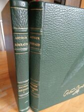 ARTHUR RIMBAUD OEUVRES POETIQUES 2 T. in-4 ILLUSTRATIONS TERTRE RELIURE EDITEUR