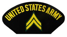 """US Army - Corporal Embroidered Patch (E63) 6"""" x 3"""" Patch 92000"""