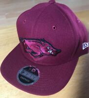 Arkansas Razorbacks New Era Flat Bill 9FIFTY Adjustable Snapback Hat Cap
