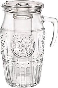 Bormioli Krug Wasserkaraffe Getränke Behälter Kanne mit Frucht Sieb Eis Einsatz