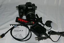 Pentax K-3 23.4Mp Digital Slr Camera with Pentax 18-55 Al Wr Lens & Accessories