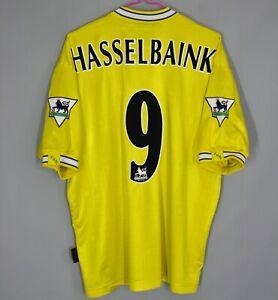 LEEDS UNITED 1996/1997/1998 AWAY FOOTBALL SHIRT JERSEY PUMA #9 HASSELBAINK