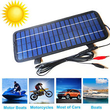 12V 5W Portable Solar Panel Battery Charger for Boat Car Automobile Motorcycle