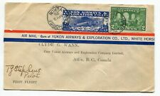 Canada Semi Official Airmail - 1928 Yukon Airways - PILOT SIGNED FFC Cover