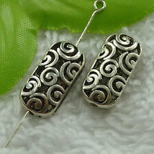 free ship 160 pieces tibet silver nice hollow spacer beads 22x11mm #2726