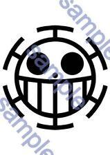 New Cosplay Body Art Tattoo seal Sticker One piece Trafalgar Law (Back) F/S