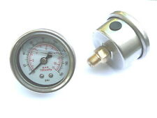 LIQUID FILLED 0 - 160 PSI HIGH PERFORMANCE EFI FUEL PRESSURE REG REGULATOR GAUGE