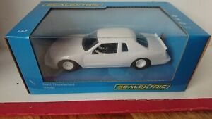 SCALEXTRIC C4077 Ford Thunderbird Plain White Race Car NEW