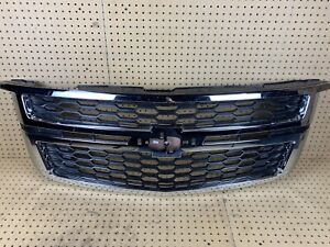 2015-2019 Chevrolet Tahoe Suburban Front Hood Bumper Grille Chrome Damaged OEM