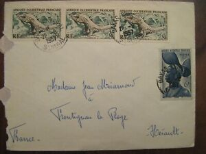 SENEGAL 1957 France Briefe FRONTIGNAN colonie cover AOF