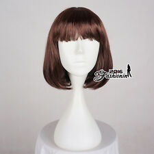 BOBO Style New Brown Straight 40cm Short Anime Hair Cosplay Full Party Wig