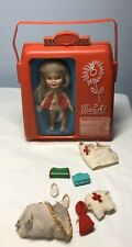 Vintage Remco Heidi Doll in Pocket Book Case With Clothes