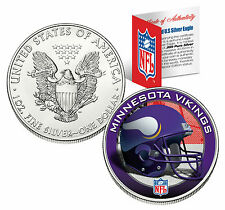 Minnesota Vikings 29.6ml .999 Argent fin AMERICAN EAGLE US pièce de monnaie NFL