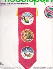 Needlepoint Kit:  Christmas Miniatures Banner Sunset Designs 8 x 20 in