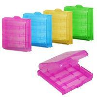 10X Plastique Pratique Translucide Boîte De Rangement Pour Batterie FE