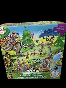 Ceaco Comic Capers Golf Safari Puzzle XLarge Pieces 300 Poster Included New