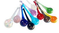 11 Assorted Rainbow Colors Chandelier Crystals 80mm Raindrop Ornaments Glass