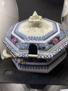 Antique Keeling & Co Ltd Tureen Lid - Losol Ware Ormond Pattern 15cm Ormonde