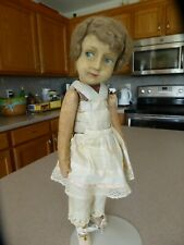 "Antique Lenci Doll 100 Series Italian Felt Cloth 16"" Tall"