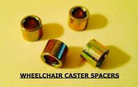 WHEELCHAIR CASTER SPACERS, FITS MOST CHAIRS 5/16. QUICKIE, INVACARE,TILITE X 4