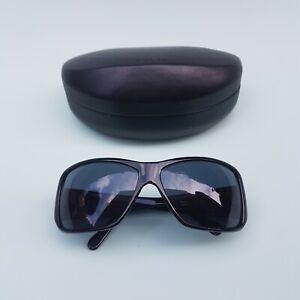 Black Prada Sport Sunglasses With Box SPR 09G Made In Italy Large Wrap Around