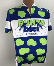 Giordana Punto Bici Perugia Cycling Biking Pro Jersey Shirt Pasta Size Large