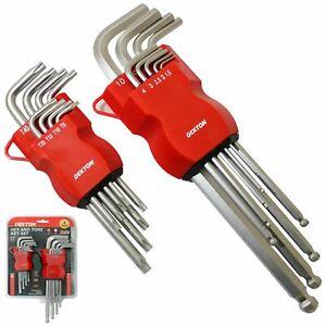Dekton 17pc Allen Key And Star Security Bit Set Torx Hex Wrench Key Metric Bits