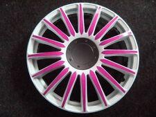 "4 Alu-Design Radkappen  ""Grand Prix weiß/pink""  13 Zoll"