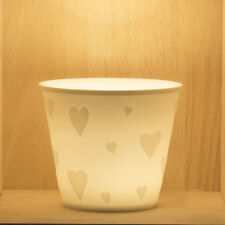 Tea Light/Tealight Holder ~ Nordic Lights ~ HEART (22) ~ Ceramic/Porcelain