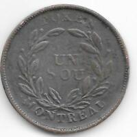 "Lower Canada LC-31A Token Montreal ""Agriculture & Commerce - Bouquet Sous """
