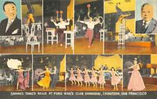 Fong Wan's CLUB SHANGHAI Chinatown San Francisco Night Club Vintage Postcard