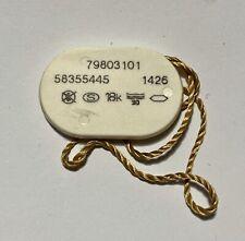 Date 22.6mm Quartz 18k Original #3 Omega Gold Ladies Watch Tag Hangtag 79803101