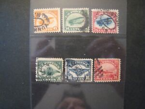 1923 US S#C1-6 Airmail Firsts used set of 6