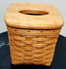 Longaberger Tissue Basket Woodcrafts Lid 1999 Classic Stain