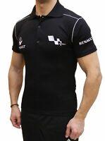 Tee-shirt fait main Renault Sport LOGO COLLIER BRODÉ Polo homme en coton COLLET
