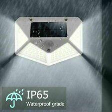 1pcs 100 LED Solaire Applique Murale PIR Capteur Mouvement Lumière Imperméable