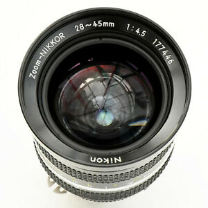 Zoom Nikkor 28-45mm f/4.5 AI Man Focus Lens. Exc++++. Tested. See Tst Imgs