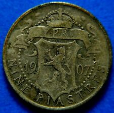 More details for cyprus: edward vii 1907 9 piastres .                                   ch9-385