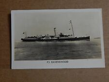 Postcard shipping Paddle steamer Ravenswood unposted.