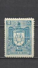 9191-SELLO FISCAL ESPAÑA 1940 ETAPA FRANQUISTA JUSTICIA MUNICIPAL 10 CT NUEVO **