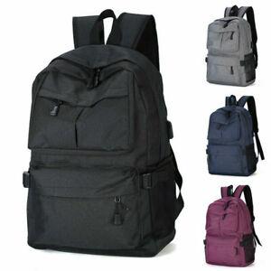 Large Boys Girls School Backpack Travel Rucksack Shoulder Laptop Bags USB Unisex