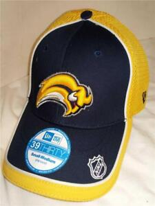 New Buffalo Sabres Mens Adult Size S/M New Era 39Thirty Stretch Fit Cap Hat