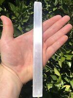 Very Large 7-8 Inch Selenite Rough Cut Wand (1) Stick - Beautiful Crystal