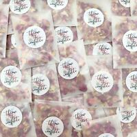 50 Rose Petal Confetti Packets Natural Dried Real Biodegradable Wedding Confetti