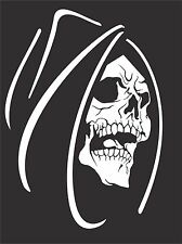 Grim Reaper Skull Monster Creature Car Truck Window Laptop Vinyl Decal Sticker