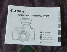 Canon Speedlite Transmitters STE2  instruction manual