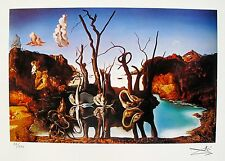 Salvador Dali SWANS REFLECTING ELEPHANTS Facsimile Signed & Numbered Giclee Art