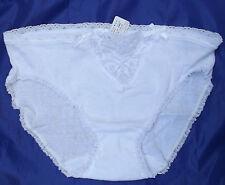 Vintage Cotton Bragas 1970s vedonis Lacy Bikini Calzoncillos os 20 a 22 XL Blanco