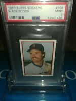 1983 Topps #308 Topps STICKERS Wade Boggs ROOKIE PSA 9 MINT REDSOX ~🔥🔥🔥