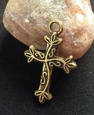 Financial Security Pagan Spell Money Amulet Bronze Cross Wicca Elemental Magick